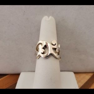 Silpada Scroll Ring Sz 6.5